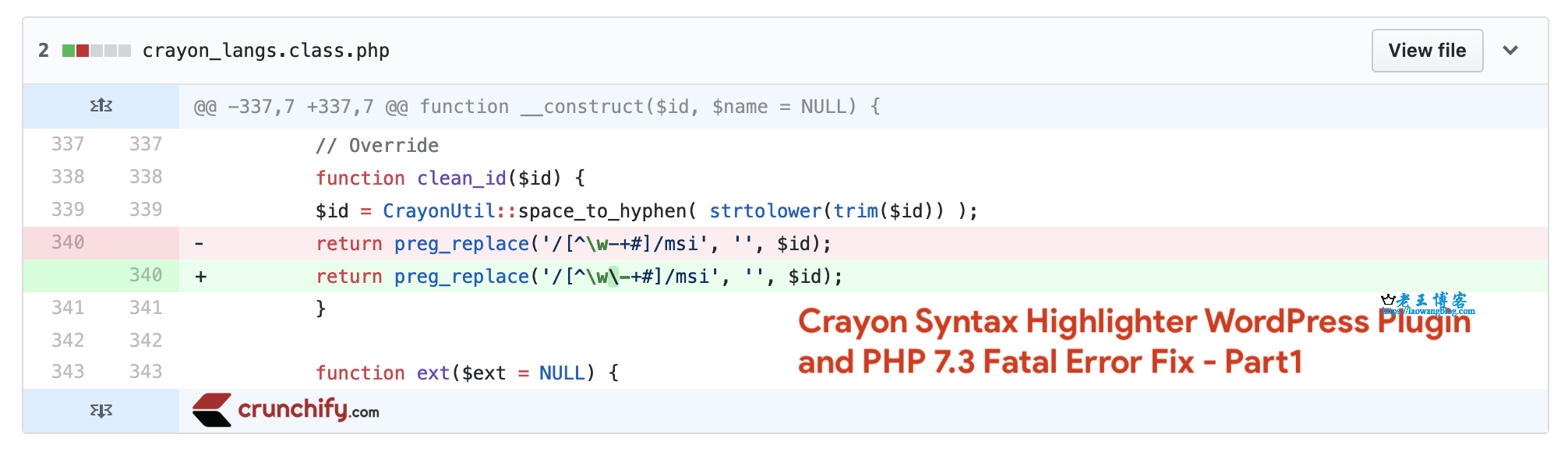 Crayon Syntax Highlighter 在新版本 PHP 下出现错误(Fatal Error)的解决办法