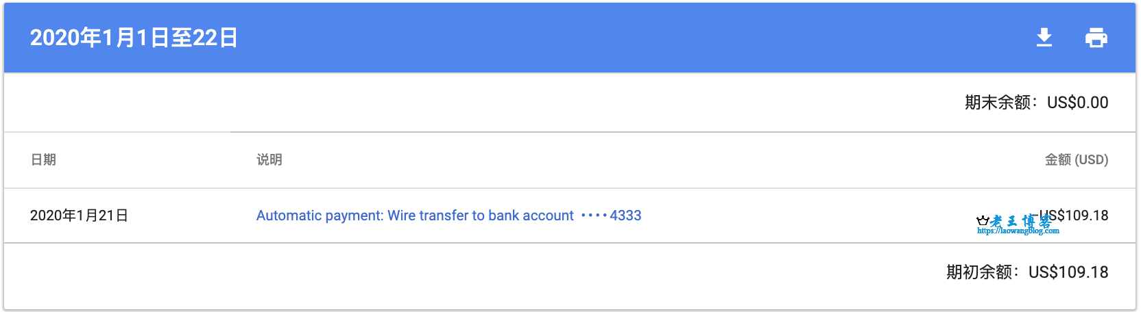 Google Adsense 电汇方式收款付款时间