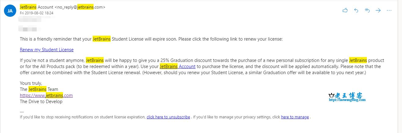 JetBrains 学生续费方式