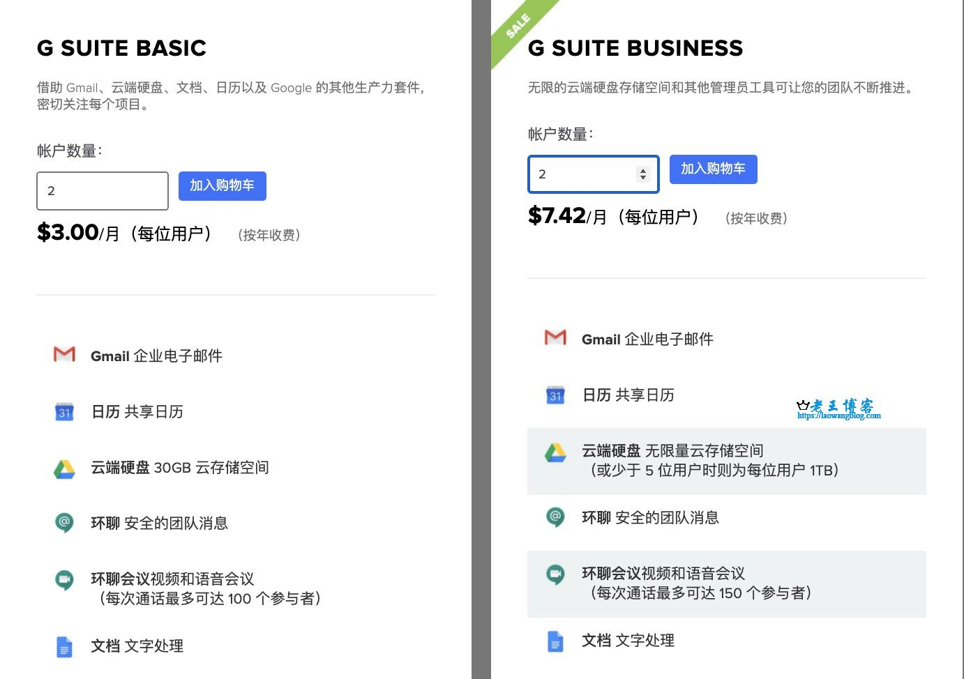 G Suite 优惠