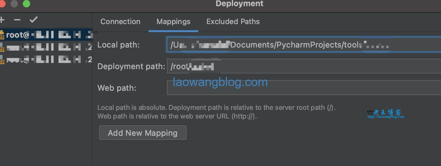 PyCharm SSH Mapping